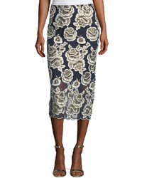 Floral embroidered midi skirt medium 4416382