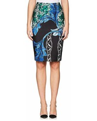 Yigal Azrouel Floral Neoprene Pencil Skirt