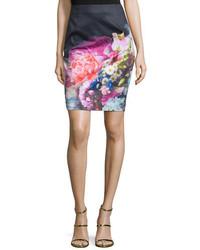 London karyce floral print pencil skirt dark blue medium 651032