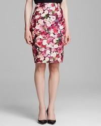 Kate Spade New York Rose Print Pencil Skirt