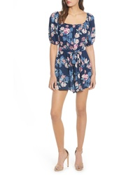 Row A Floral Square Neck Romper