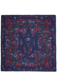 Alexander Mcqueen Crosshatch Floral Modal Silk Scarf