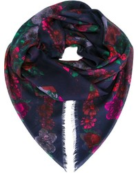 Alexander McQueen Floral And Skull Print Scarf