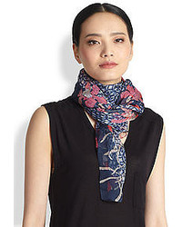 Tory Burch Botanical Garden Silk Scarf