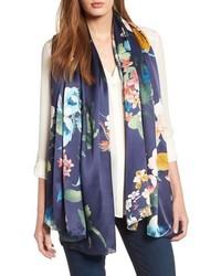 Nordstrom Flower Print Silk Wrap