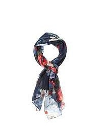 Joules Wensley Scarf Navy Floral