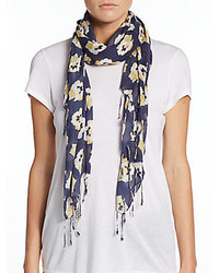 Saks Fifth Avenue Poppy Floral Print Scarf