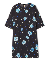 Marni Floral Print Cotton Mini Dress