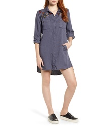 BILLY T Embroidered Shirtdress