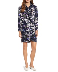 Everleigh Shirred Knot Front Shirtdress
