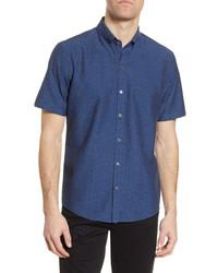 Zachary Prell Bunim Floral Brocade Short Sleeve Shirt