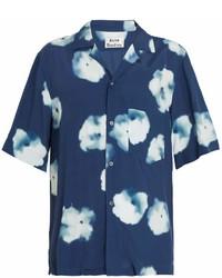 Acne Studios Elms Short Sleeved Floral Print Shirt