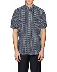 Barneys New York Floral Cotton Button Down Shirt