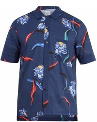 Paul Smith Floral Print Short Sleeved Cotton Shirt