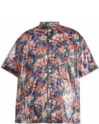 Isabel Marant Floral Print Short Sleeved Organza Shirt