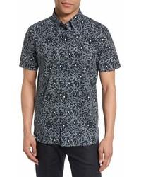 Ted Baker London Calous Floral Short Sleeve Slim Fit Shirt