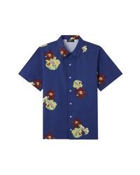 A.P.C. Louis Floral Short Sleeve Button Up Shirt