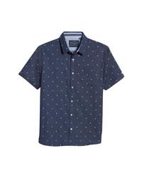 7 Diamonds Miles Ahead Floral Short Sleeve Button Up Shirt
