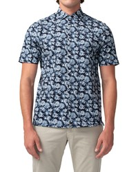 Good Man Brand On Point Floral Short Sleeve Stretch Button Up Shirt