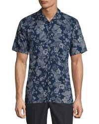 Short sleeve floral print shirt medium 3701653