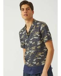Emporio Armani Short Sleeved Silk Blend Shirt