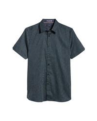 Ted Baker London Sirrup Floral Medallion Short Sleeve Button Up Shirt