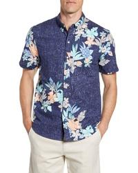Reyn Spooner South Pacific Garlands Regular Fit Short Sleeve Sport Shirt
