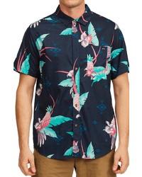Billabong Sundays Floral Short Sleeve Button Up Shirt