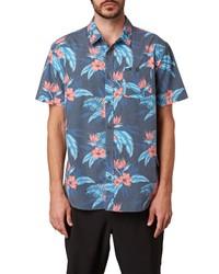 O'Neill Tropic Jam Floral Short Sleeve Button Up Shirt