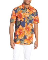 676d3d5e Navy Floral Short Sleeve Shirts for Men | Men's Fashion | Lookastic.com