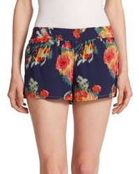 Lanina silk floral print shorts medium 332818