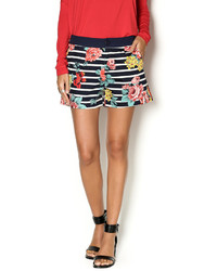 Lavand Navy Stripe Floral Shorts