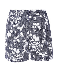MICHAEL Michael Kors Pleated Floral Print Piqu Shorts