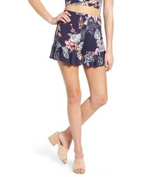 Ruffle floral high waist shorts medium 4470819