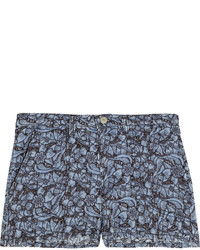 Etoile Isabel Marant Toile Isabel Marant Floral Embroidered Denim Shorts