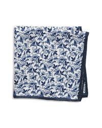 Nordstrom Men's Shop Vine Print Silk Pocket Square