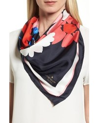 kate spade new york Large Daisy Square Silk Scarf