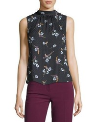 Natalie sleeveless floral print silk top medium 4948887