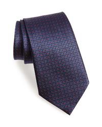 Ermenegildo Zegna Floral Grid Silk Tie