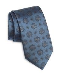 Ermenegildo Zegna Floral Medallion Silk Tie