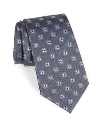Ermenegildo Zegna Medallion Flower Silk Tie