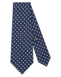 Gucci Tiger Patch Silk Tie