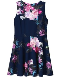 Ax paris floral print skater dress medium 450347