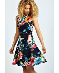 Boohoo Jennifer Floral Skater Dress