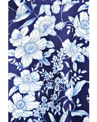 0258ad39a6 Boohoo Sandra Navy Floral Scuba Skater Skirt, $16 | BooHoo ...