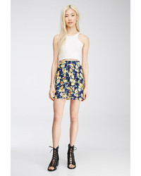 Forever 21 Button Front Floral Mini Skirt | Where to buy & how to wear
