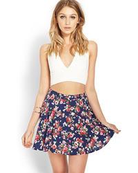 Forever 21 Feeling Floral Skater Skirt