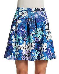 Floral print a line skirt medium 309302