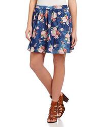 Alythea Floral Print Skater Skirt