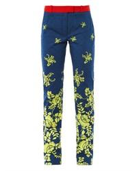 Preen by Thornton Bregazzi Citrus Flower Print Trousers
